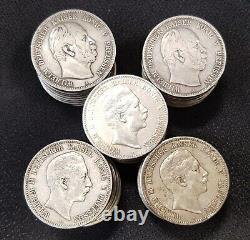 Preußen Anlegerposten Lot 100 x 5 Mark Silbermünze Wilhelm I. Und II. 63559