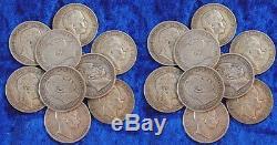 Preußen Lot 20 x 5 Mark Silbermünze Wilhelm I und II. Ss und besser, Silber 900