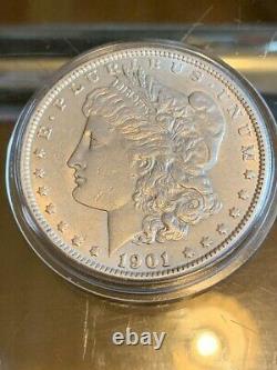 Rare 1901 P Morgan. 900 Silver $1 Dollar Coin Philadelphia Mint No Mint Mark