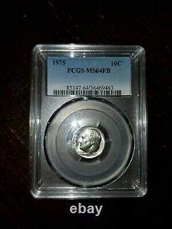 Rare 1975 roosevelt Dime, No S MintMark MS64