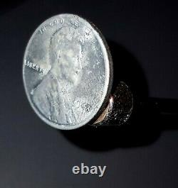 Rare Silver Steel 1943 Lincoln Wheat One Cent Penny withNo Mint Mark- Magnetic