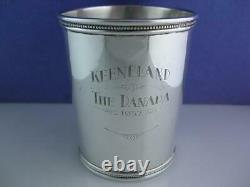 Rare Sterling MARK J SCEARCE Mint Julep Cup HARRY TRUMAN Keeneland 1952