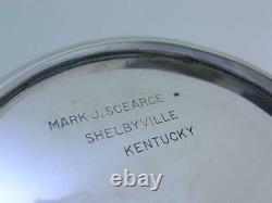 Rare Sterling MARK J SCEARCE Mint Julep Cup HARRY TRUMAN no mono