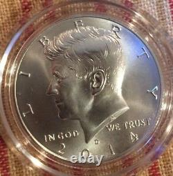 Roll Of 20 2014 Kennedy Half Dollar D Mint Mark From 4 Coin Kennedy Silver Set