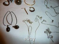 Sterling Silver Jewelry Lot ALL MARKED MOSTLY GOOD Rings Bracelets 267.2 grams