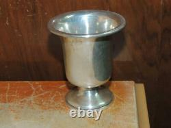 Sterling Silver Mint Julep cup 3 footed marked diamond s trophy shape