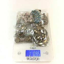 Sterling silver lot 1lb. 95oz all marked 925 or sterling all wearable vintage