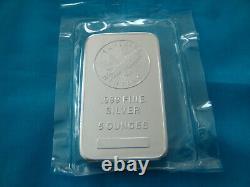 Sunshine Minting SMI 5 Troy Ounces Silver Bar. 999 Fine Mint Mark SI, Sealed =$$
