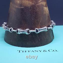 Tiffany & Co. Sterling Silver Vintage Bamboo Bracelet Mint Uk Assay Marked