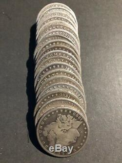 US Morgan Silver Dollar Roll 20-CT Circulated Mixed Dates & Mint Marks