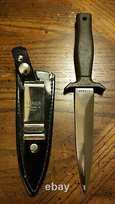 Vintage Gerber Mark I Combat Knife Mint/Unused Green Armorhide/Black Sheath