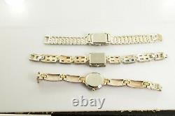 Watch Lot Sterling Silver All Marked 135.7 g 3 Watches Aria (1) Ecclissi (2)