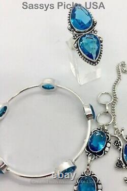 Wholesale Marked 925 Sterling Silver Handmade Indi Gemstone Jewelry Lot 152g 215